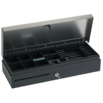 Flip Top, Cash Drawer, Hardwired, Black