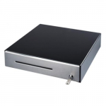 Cash Drawer, Black Metal, Stanless Front