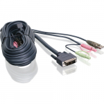 "10"" DVI-I Single Link USB KVM Cable"